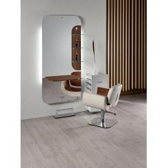 SA - New York frisørspejl -...